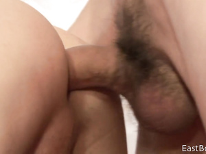 Teen twink got in larder and pleasuring passionate hot fuck