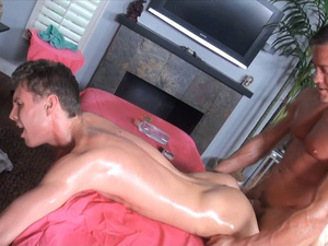 Hard and tight muscled twink massages and fucks skinny twink