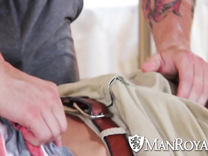 Handsome charming young guy dude pleasures hot fuck with boyfriend